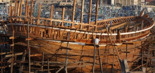 в Пакистане строят лодки без чертежей