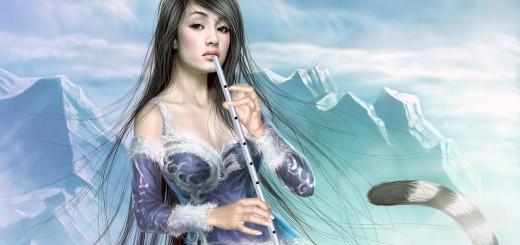 флейта девушка