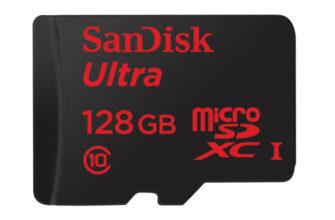 SanDisk запускает карты памяти MicroSD на 128GB