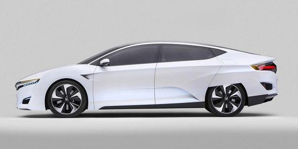 Популярная компания Honda показала миру на международной выставке в Детройте, новый автомобиль на водороде - Honda FCV.