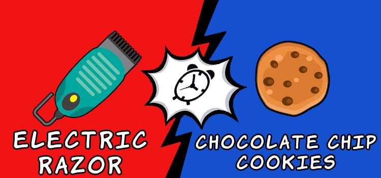 Что придумали раньше, шоколадное печенье, или электробритва?